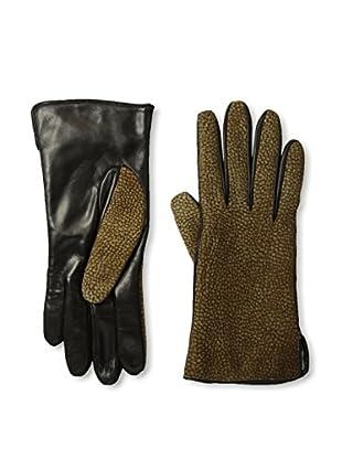 Portolano Women's Borbonese Top Leather Gloves (Black/Borbonese)