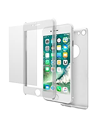 UNOTEC Carcasa 2 Piezas Pack Full Protect iPhone 7 Blanco