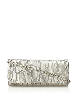 Inge Christopher Women's Santa Rosa Snake Clutch, Silver