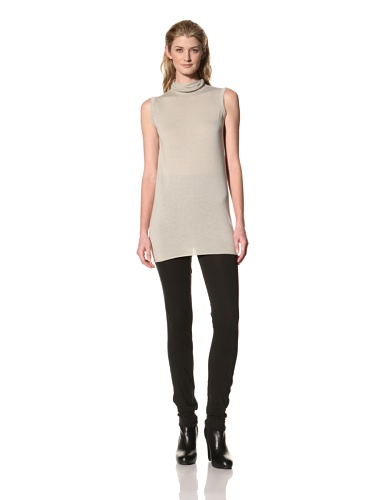 RICK OWENS Women's Sleeveless Turtleneck Top (Pearl)