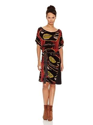 Desigual Vestido Roma (Negro Estampado)