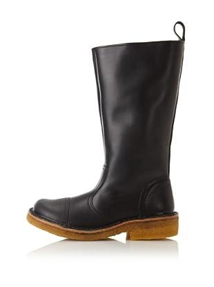 Swedish Hasbeens Women's Worker Boot (Black/nature)