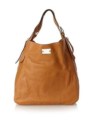 MARNI Women's Side Zip Shoulder Bag, Camel