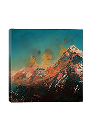 Andreas Lie Mountain Splash Canvas Print