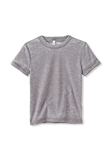 Colorfast Apparel Boy's Burnout Crewneck Tee (Charcoal)