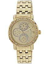 Titan Purple - Glam Gold Analog Beige Dial Women's Watch - 9743YM02J