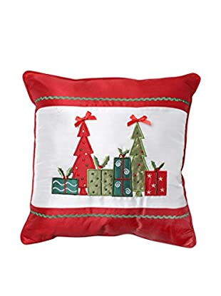 Pillow Perfect Christmas Trees & Presents Throw Pillow