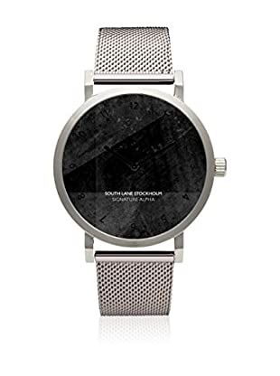 South Lane Reloj de cuarzo Unisex Signature Alpha Silver Steel 40 mm