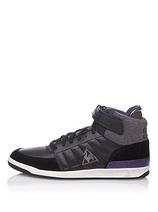 Le Coq Sportif High Top Sneaker Retro Sport Diamond Lea (Schwarz/Violett)