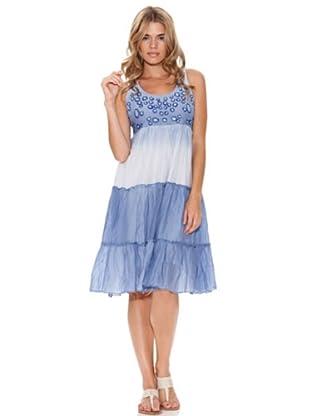 Peace & Love Vestido Cortes (Azul)