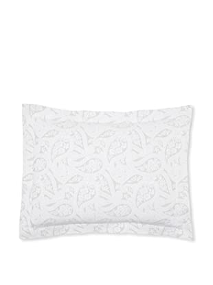 Belle Epoque Kashmir Paisley Pillow Sham (Grey/White)