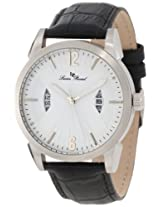 Lucien Piccard Men's 11561-02 Watzmann White Textured Dial Black Leather Watch