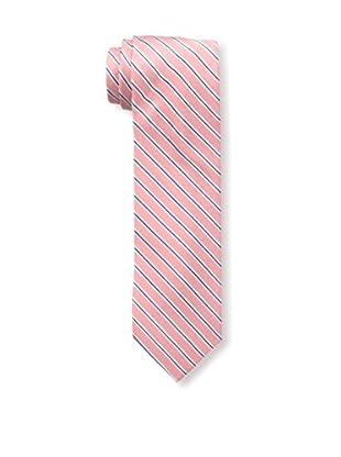 Bruno Piattelli Men's Striped Tie, Coral