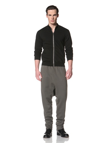 Rick Owens DRKSHDW Men's Zip-Front Sweatshirt (Black)