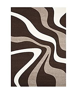 Chic Orange Alfombra Daemon / Modern