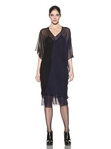 Poleci Women's Two-Tone Dress (Navy/Black)