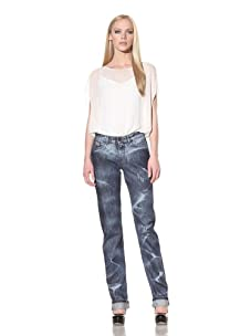 """D&G by Dolce & Gabbana Women's """"Slimmy"""" Fit Straight Leg Jean (Blue)"""
