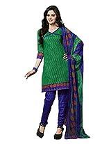 FadAttire Cotton Salwar Suit Dress Material-Green-FAKG06