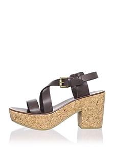 Ash Women's Wonder Bis Platform Sandal (Brown)