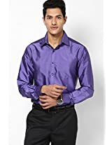 Solid Purple Formal Shirt Copperline