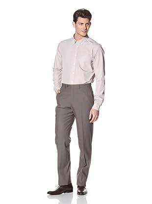 Hart Schaffner Marx Men's Flat Front Trouser (Grey)