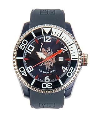 U.S. POLO ASSN. Uhr mit japanischem Quarzuhrwerk Logan blau 47 mm