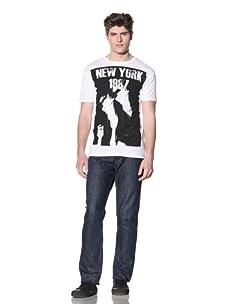 MG Black Label Men's New York T-Shirt (White)