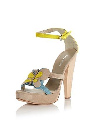 Philosophy di Alberta Ferretti Women's Butterfly Heeled Sandal (Lime/Sand/Lt Blue)