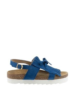 Misu Sandalias Flecos y Lacito (Azul)