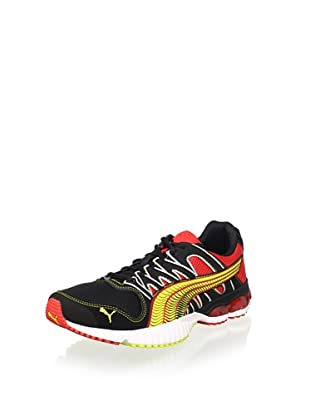 PUMA Men's Radius Running Shoe (Fiery Red/Black/Fluo)
