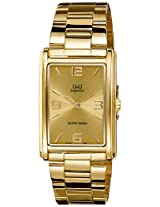 Q&Q Samurai Analog Gold Dial Men's Watch - R348-003Y