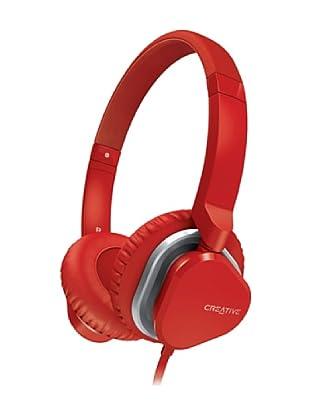 Creative Hitz MA2400 - Auriculares de diadema cerrados (con micrófono), rojo