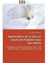 Appreciation de La Mise En Uvre de L'Hygiene Dans Une Laiterie