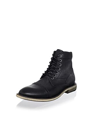Kenneth Cole REACTION Men's Craft Master Lace-Up Boot (Black)