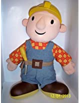 "Vintage Talking Bob the Builder Plush Doll with His Hard Hat 16"" By Tiger 2001"
