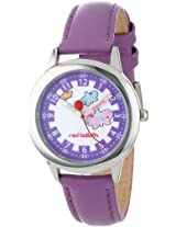 Red Balloon Kids W000191 Butterflies Time Teacher Stainless Steel Watch with Purple Leather Band