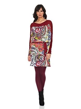 Janis Vestido Paisley (Burdeos)