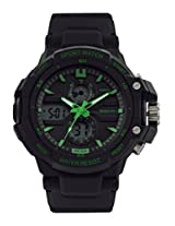 Maxima Fiber Analog-Digital Black Dial Men's Watch - 28600PPAN