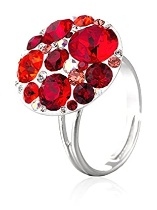 SWAROVSKI ELEMENTS Anillo Small Crystals Rojo