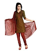 S.V.G. Suit Material With Sequined Work - (Mehendi)