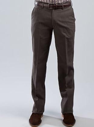 Cortefiel Pantalón (marrón oscuro)