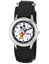Disney Kids W000010 Mickey Mouse Stainless Steel Time Teacher Watch
