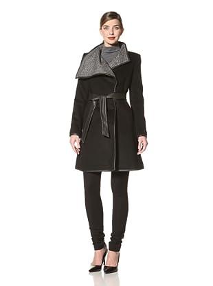 Badgley Mischka Women's Alex Belted Jacket (Black)