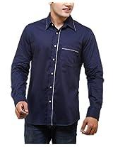 See Designs Men Buttoned Shirt (SDMDWSS14SH116_XL, BLUE, XL)
