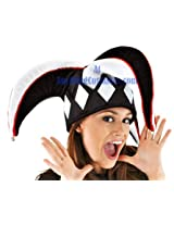 COURT JESTER HAT BLACK/WHITE