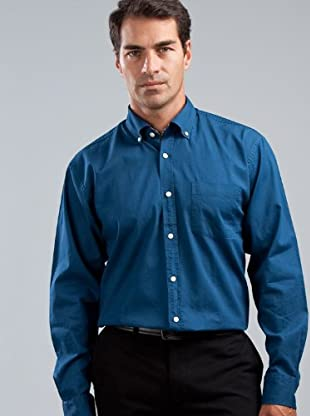 Cortefiel Camisa Bolsillo (azul oscuro)