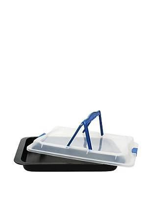 Blaumann Bandeja Para Horneado Con Tapadera De Plástico - Especial Para Llevar