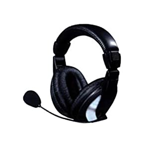 Intex Mega Over-Ear Headphone with Mic (Silver Black and Black)