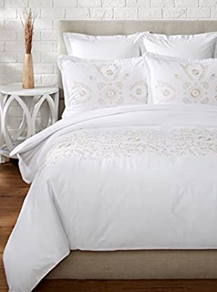 Mélange Home Midas Embroidered Duvet Set