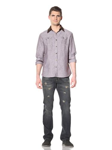 Artisan De Luxe Men's Colorado Button-Front Shirt (Chambray Brown)